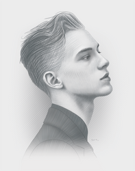 Distinction Portrait by moisesrodriguez-art