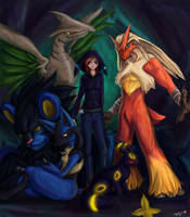 Team LightUmbreon by taravalentine
