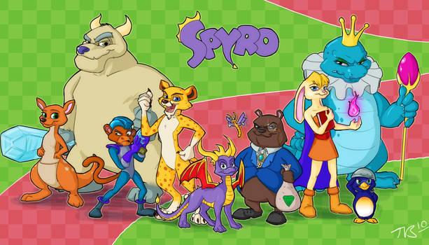 Spyro Year of the Dragon by taravalentine