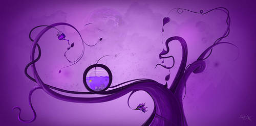 purple tree by studio-fh