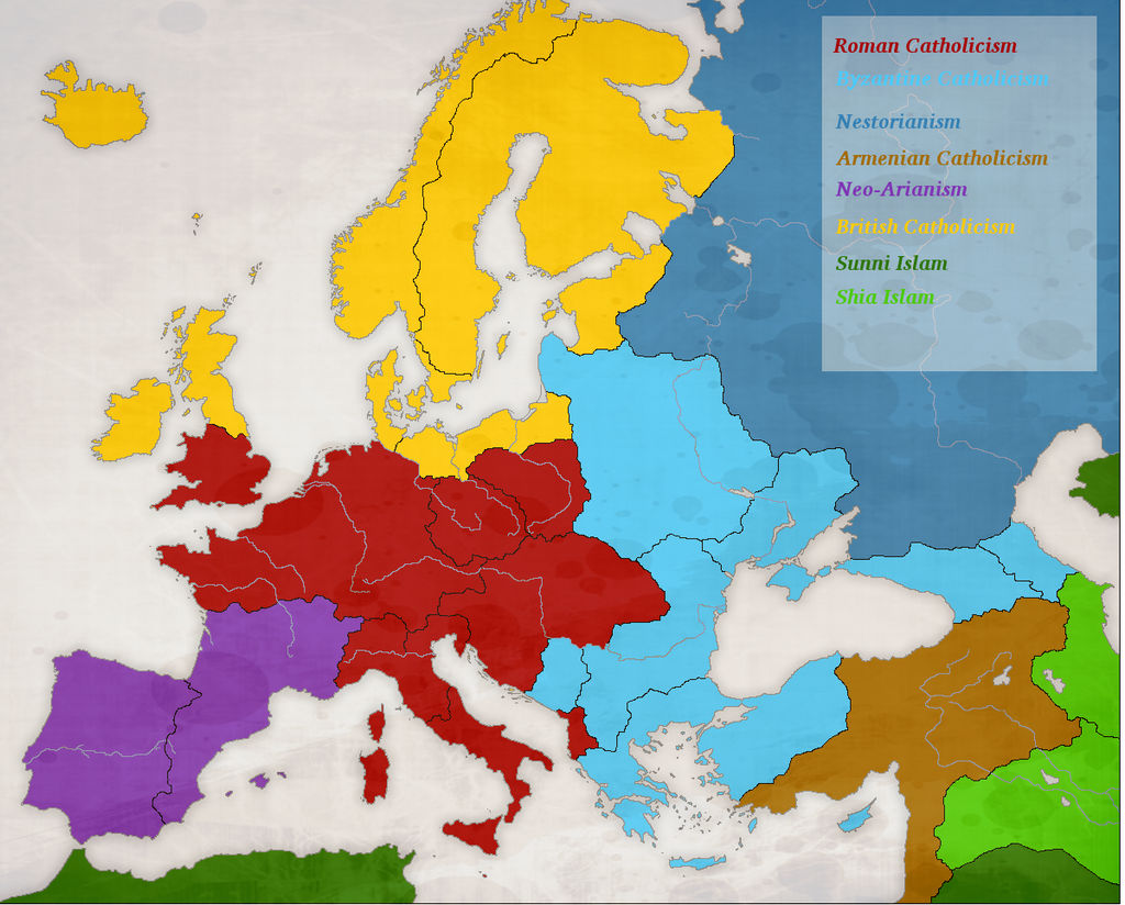 Map Of Europe 1780.Poitiers Europe 1780 Religions By Artaxes2 On Deviantart