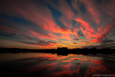 Lake orr sunset by AXNLphotography