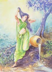 The Toilet of Vasundhara by rinaswan