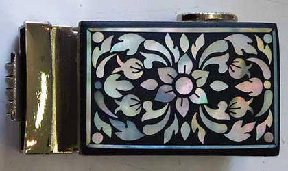 Mother of Pearl Inlay Belt Buckle by rinaswan
