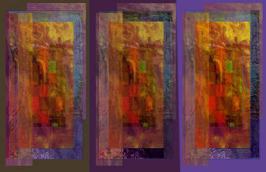 triptych abstract by artin2007