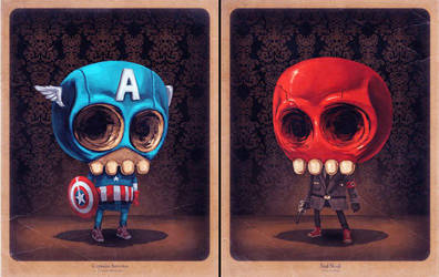 Captain and Skull by Mike Mitchell by SANEmporium