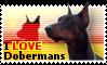 I LOVE Dobermans Stamp by TheWondrousCorvus