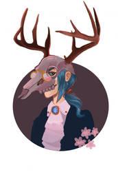 Deer smile by vanilliacoke