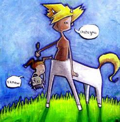 Centaur and Satyr by RayArray