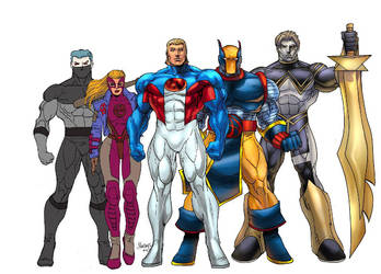 I-Force (center) as rendered by Gilbert Monsanto by EricLinquist