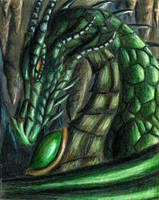 Green Dragon by Song-Of-Shadows