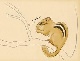 Hungry Mr. Chipmunk by TicklishPear