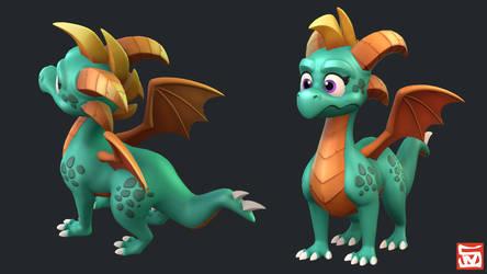 Spyro Inspired Dragon by CynicalPlant