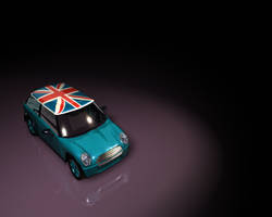 Teal Mini Cooper Wallpaper by digitalabyss
