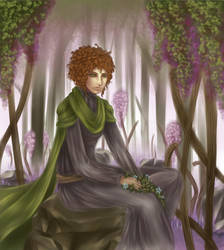 Annette in the rocky forest by M4dH4tter