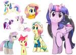 Dump of ponies by Ketticat55