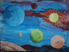 Planets and Sun Collage by angelstar22