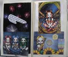 1st Altered Book 12, Favorites by angelstar22