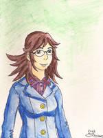 Kierra in Watercolor Pencils by Erikku8
