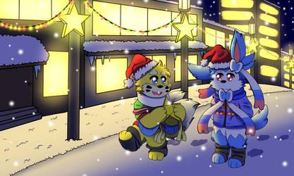 (Pokemon) Light of Christmas by Black-ADD-White