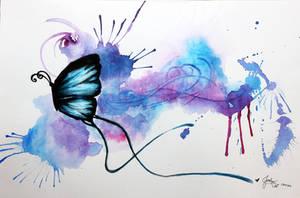 Watercolour Butterfly by jesslynlcl