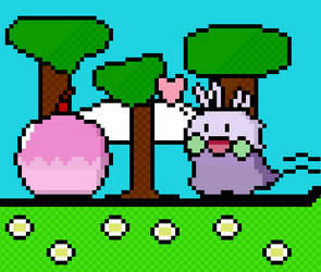 Pixel Goomy + Pokepuff by Themjapes