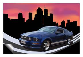Mustang Poster by Breakaway13