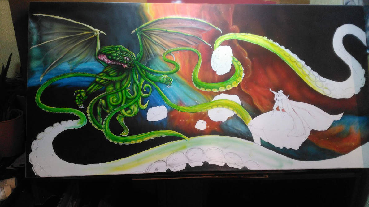 Cthulhu vs Strange work in progress by ktalbot