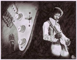Jimi Hendrix 2 by ktalbot