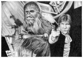Han Solo and Cewbacca by ktalbot