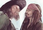 Captain Barbossa + Jack by ktalbot