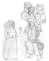 Pretender Transformer: Nunsense by DABurgosART