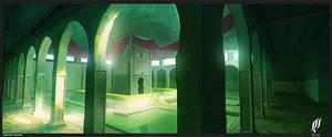 arabic castle interior concept by cstlmode