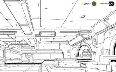 LUNAR station  line art by cstlmode