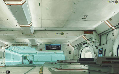 LUNAR station concept  colored by cstlmode