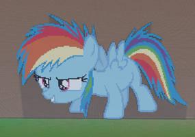 Rainbow Dash Filly Minecraft by annary