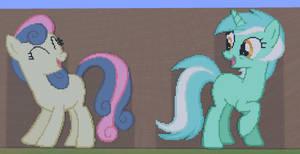 Lyra and Bon Bon by annary