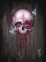 pink skull by BlackFurya