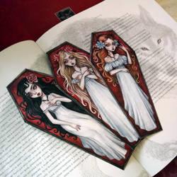 Gothic bookmarks. Brides of Dracula. by BlackFurya