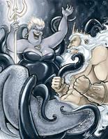 Ursula vs. King Triton ECCC2017 by ComfortLove
