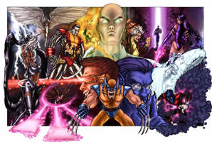 X-Men color poster by ComfortLove