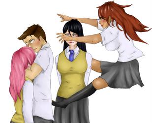 more blushing ichinen (and you-san) by Leni-chan