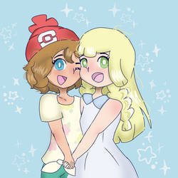 serena and lillie by Lularuu