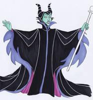 Inktober 2018, day 3 Maleficent by NatAliDenton