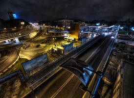 View from main railway station by kubica