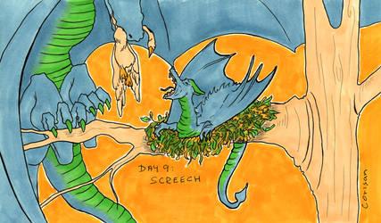 Day 9 - Screech by klice-chan