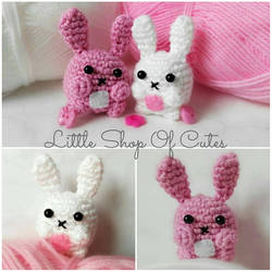 Crochet Bunnies by LittleShopOfCutes