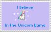 Unicorn Llama Stamp by I-luvv-anime