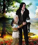 Yennefer and Ciri by Lady-Lili