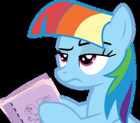 Rainbow Dash acting Twilight Sparkle by XBoomdiersX